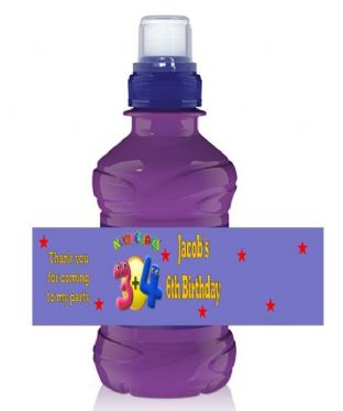 Numberjacks Bottle Label Wrapper.